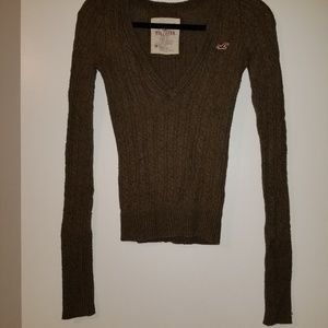 Hollister Long Sleeve Brown Sweater